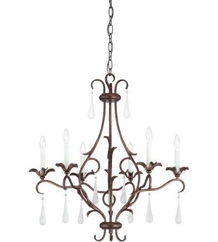 Savoy House Roschella 6 Light Chandelier in Guilded Bronze 1-3800-6-131 photo