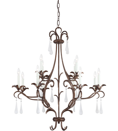 Savoy House Roschella 12 Light Chandelier in Guilded Bronze 1-3801-12-131 photo