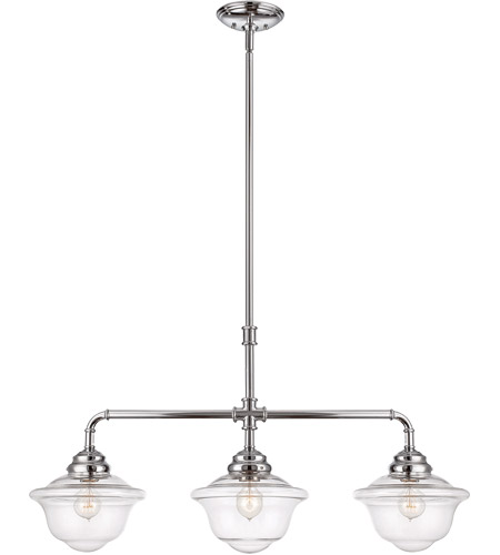 Savoy House 1-392-3-11 Fairfield 3 Light 37 inch Polished Chrome Trestle Ceiling Light photo