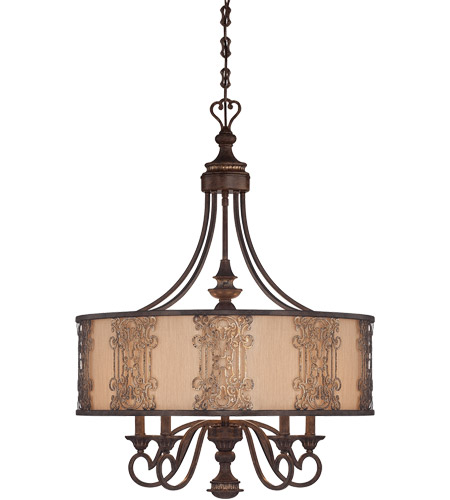 Savoy House Windsor 5 Light Chandelier in Fiesta Bronze with Gold Highlights 1-3951-5-124 photo
