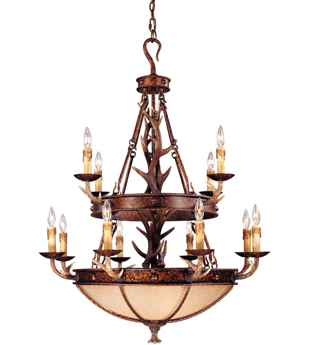 Savoy House 1-40004-12-56 Blue Ridge 12 Light 36 inch New Tortoise Shell Chandelier Ceiling Light in Excavated photo