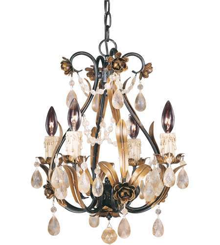Savoy House Signature 4 Light Chandelier in Antique Copper 1-4006-4-16 photo