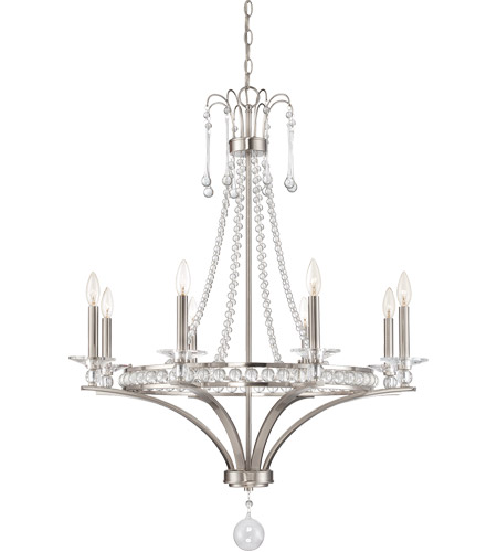 Savoy House 1-401-8-SN Alana 8 Light 32 inch Satin Nickel Chandelier Ceiling Light photo