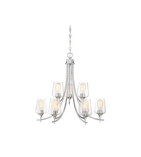 Savoy House 1-4033-9-11 Octave 9 Light 30 inch Polished Chrome Chandelier Ceiling Light photo thumbnail