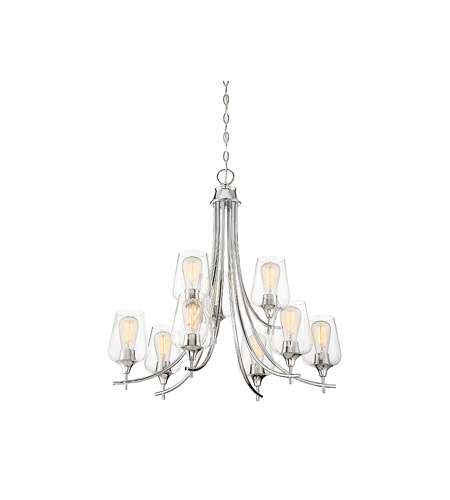 Savoy House 1-4033-9-11 Octave 9 Light 30 inch Polished Chrome Chandelier Ceiling Light alternative photo thumbnail