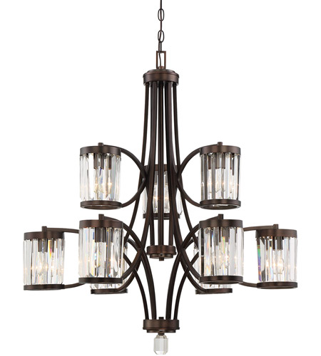 Savoy House 1 4061 9 28 Nora Light 33 Inch Oiled Burnished Bronze Chandelier Ceiling