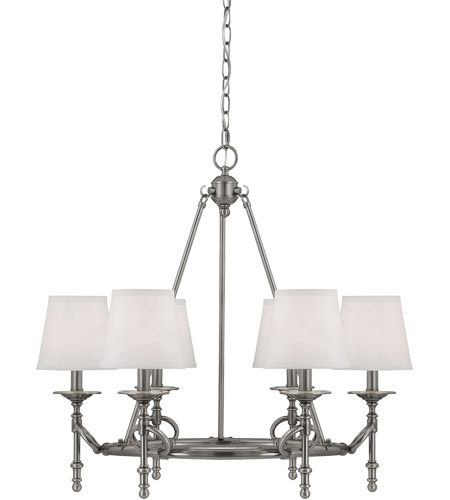 Savoy House Foxcroft 6 Light Chandelier in Brushed Pewter 1-4157-6-187 photo