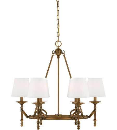 Savoy House Foxcroft 6 Light Chandelier in Aged Brass 1-4157-6-291 photo