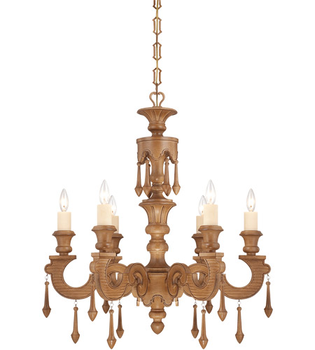 Savoy House Bellemeade 6 Light Chandelier in Aged Wood 1-4270-6-254 photo