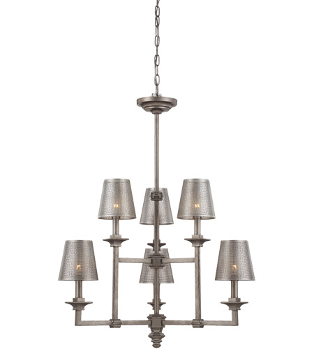 Savoy House Structure 6 Light Chandelier in Aged Steel 1-4300-6-242 photo