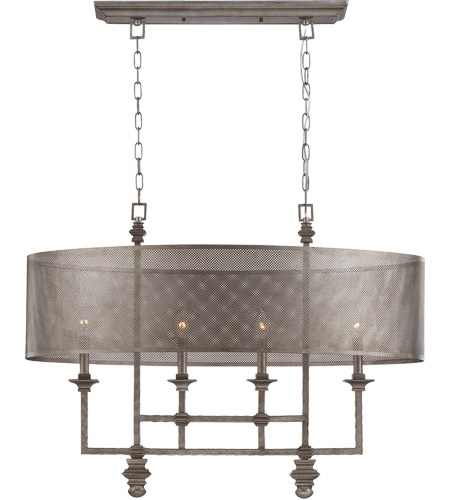 Savoy House Structure 4 Light Chandelier in Aged Steel 1-4301-4-242 photo