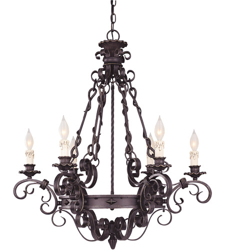 Savoy House 1-4314-6-17 Bourges 6 Light 30 inch Forged Black Chandelier Ceiling Light photo