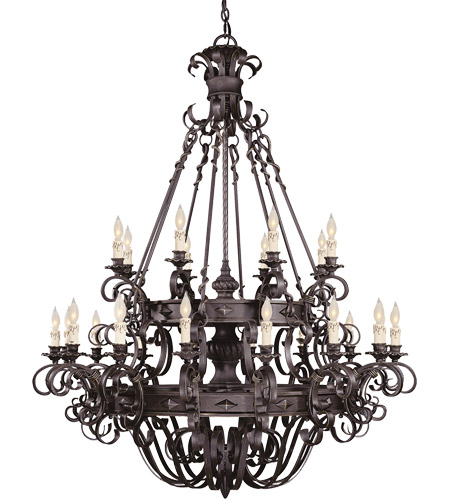 Savoy House Bourges 24 Light Chandelier in Forged Black 1-4322-24-17