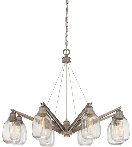 Savoy House Orsay 8 Light Chandelier in Industrial Steel 1-4331-8-27