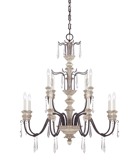 Savoy House Madeliane 12 Light Chandelier in Wood and Iron 1-4342-12-192