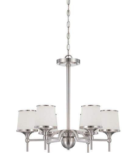 Savoy House 1-4381-6-SN Hagen 6 Light 24 inch Satin Nickel Chandelier Ceiling Light photo