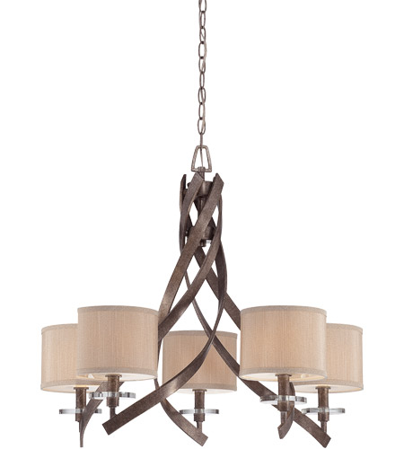 Savoy House Luzon 5 Light Chandelier in Antique Nickel 1-4431-5-285 photo