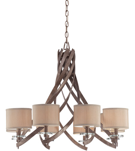 Savoy House Luzon 8 Light Chandelier in Antique Nickel 1-4434-8-285