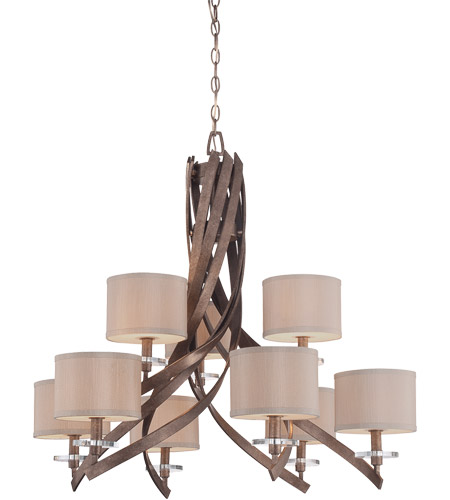 Savoy House Luzon 9 Light Chandelier in Antique Nickel 1-4435-9-285 photo