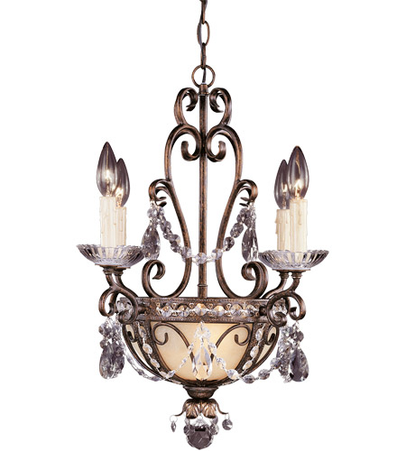 Savoy House Signature 6 Light Mini Chandelier in New Tortoise Shell W/Silver Gold 1-4505-4-8 photo