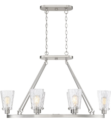 Savoy House 1-4506-6-SN Vaughan 6 Light 38 inch Satin Nickel Linear Chandelier Ceiling Light photo