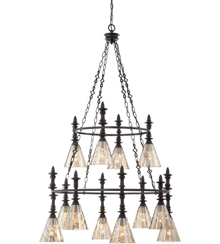 Savoy House Darian 12 Light Chandelier in Oiled Bronze 1-4901-12-02 photo