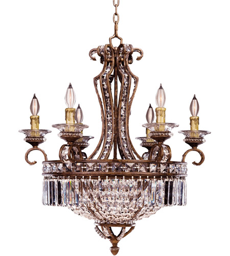 Savoy House Crystal Lustres Vera Cruz 6 Light Chandelier in New Tortoise Shell w/Silver 1-5019-6-8 photo