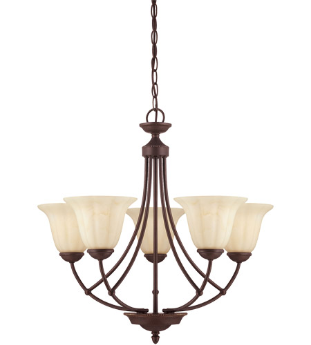Savoy House Liberty 5 Light Chandelier in Walnut Patina 1-5022-5-40 photo