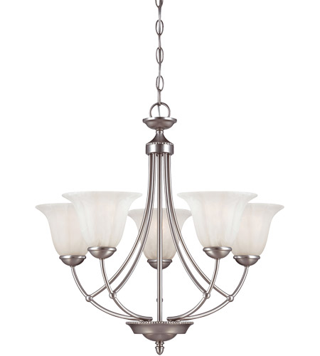 Savoy House Liberty 5 Light Chandelier in Satin Nickel 1-5022-5-69