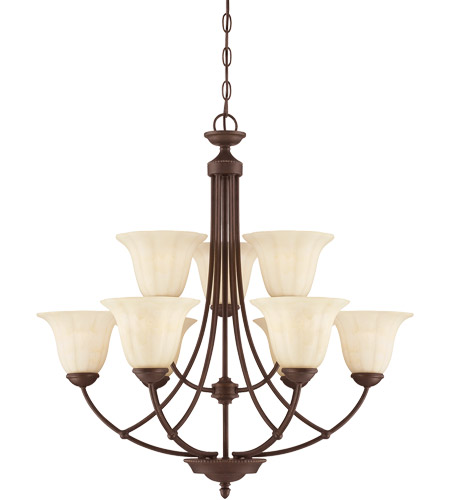 Savoy House Liberty 9 Light Chandelier in Walnut Patina 1-5023-9-40