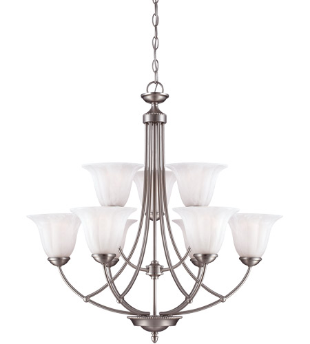 Savoy House Liberty 9 Light Chandelier in Satin Nickel 1-5023-9-69 photo