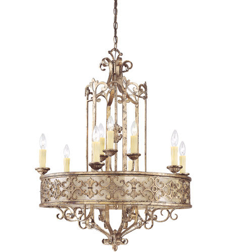 Savoy House Savonia 9 Light Chandelier in Oxidized Silver 1-506-9-128 photo