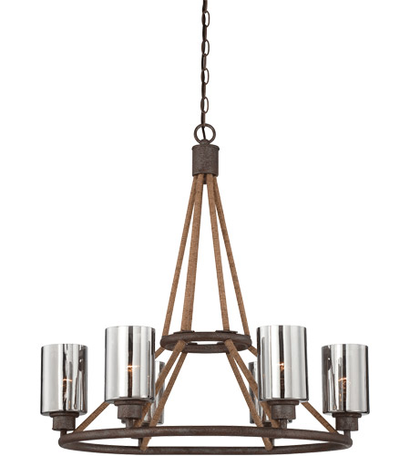Savoy House Maverick 6 Light Chandelier in Artisan Rust 1-5150-6-32 photo