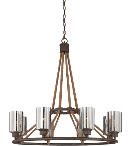 Savoy House Maverick 8 Light Chandelier in Artisan Rust 1-5151-8-32
