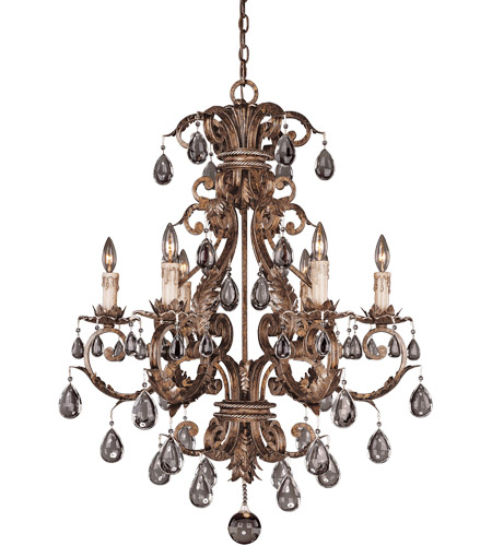 Savoy House Chastain 6 Light Chandelier in New Tortoise Shell w/ Silver 1-5306-6-8 photo