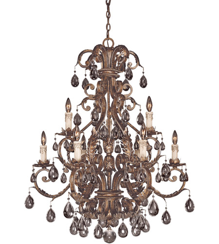 Savoy House Chastain 9 Light Chandelier in New Tortoise Shell w/ Silver 1-5307-9-8 photo