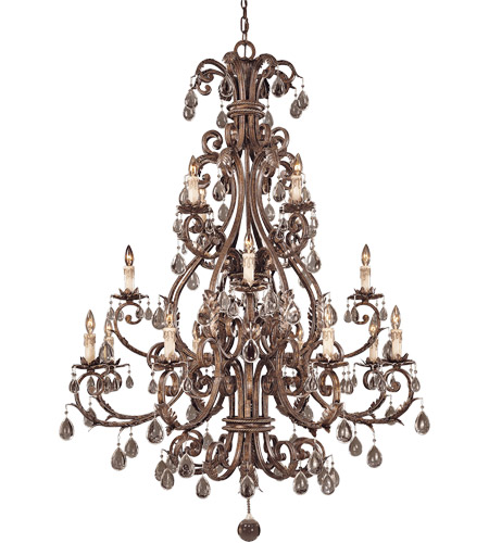 Savoy House Chastain 16 Light Chandelier in New Tortoise Shell w/ Silver 1-5308-16-8 photo