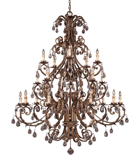 Savoy House Chastain 20 Light Chandelier in New Tortoise Shell w/Silver 1-5309-20-8