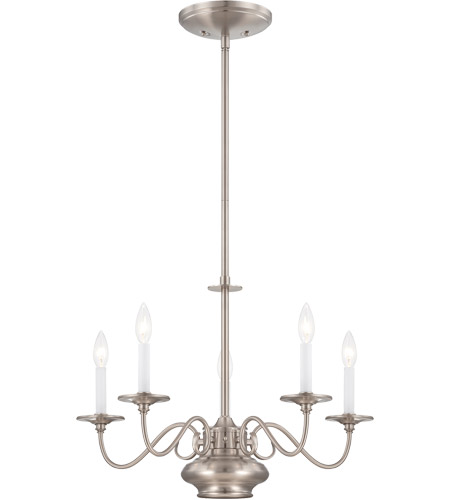 Savoy House Bancroft 6 Light Chandelier in Satin Nickel 1-5450-5-SN