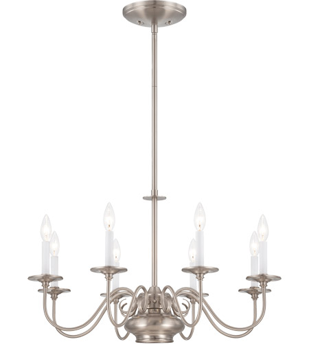 Savoy House Bancroft 9 Light Chandelier in Satin Nickel 1-5451-8-SN photo
