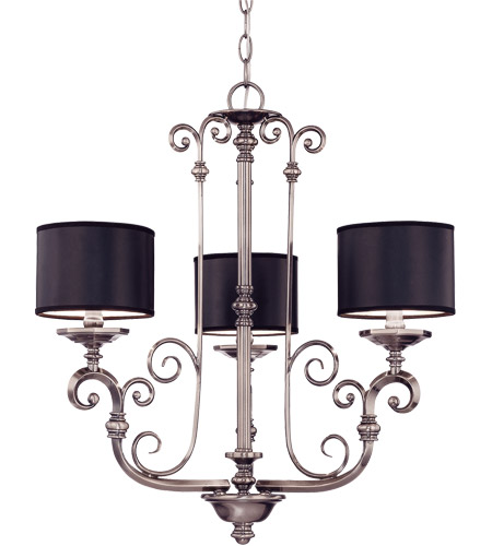 Savoy House Mont La Ville 3 Light Chandelier in Brushed Pewter 1-5682-3-187 photo