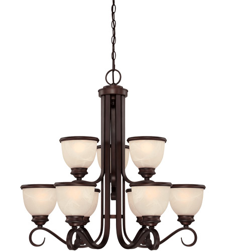 Savoy House Willoughby 9 Light Chandelier in English Bronze 1-5773-9-13