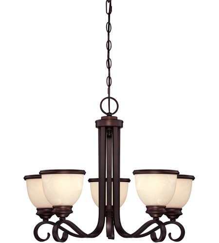 Savoy House Willoughby 5 Light Chandelier in English Bronze 1-5774-5-13