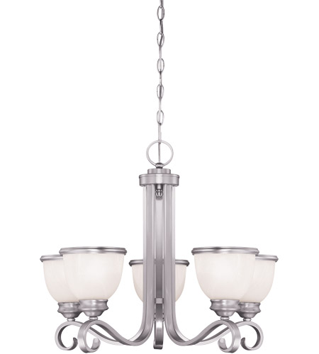 Savoy House 1-5774-5-69 Willoughby 5 Light 24 inch Pewter Chandelier Ceiling Light in White Marble photo