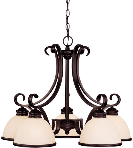 Savoy House 1-5776-5-13 Willoughby 5 Light 27 inch English Bronze Chandelier Ceiling Light in Cream Marble photo
