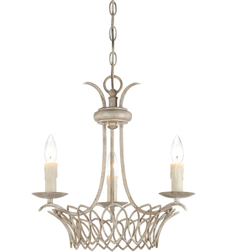 Savoy House Linwood 3 Light Chandelier in Vintage White 1-5780-3-329 photo