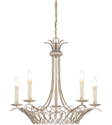 Savoy House Linwood 5 Light Mini Chandelier in Vintage White 1-5781-5-329 photo