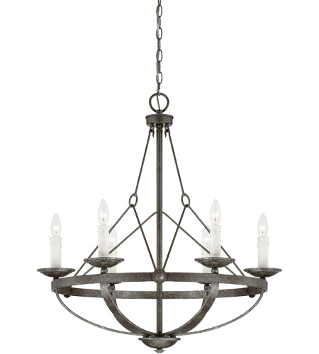 Savoy House 1-6000-6-285 Epoque 6 Light 28 inch Antique Nickel Chandelier  Ceiling Light - Savoy House 1-6000-6-285 Epoque 6 Light 28 Inch Antique Nickel