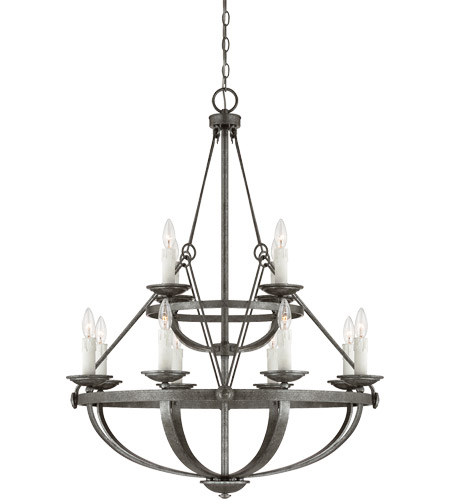 Savoy House 1-6001-12-285 Epoque 12 Light 30 inch Antique Nickel Chandelier Ceiling Light photo