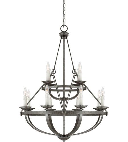 Savoy House Epoque 12 Light Chandelier in Antique Nickel 1-6001-12-285